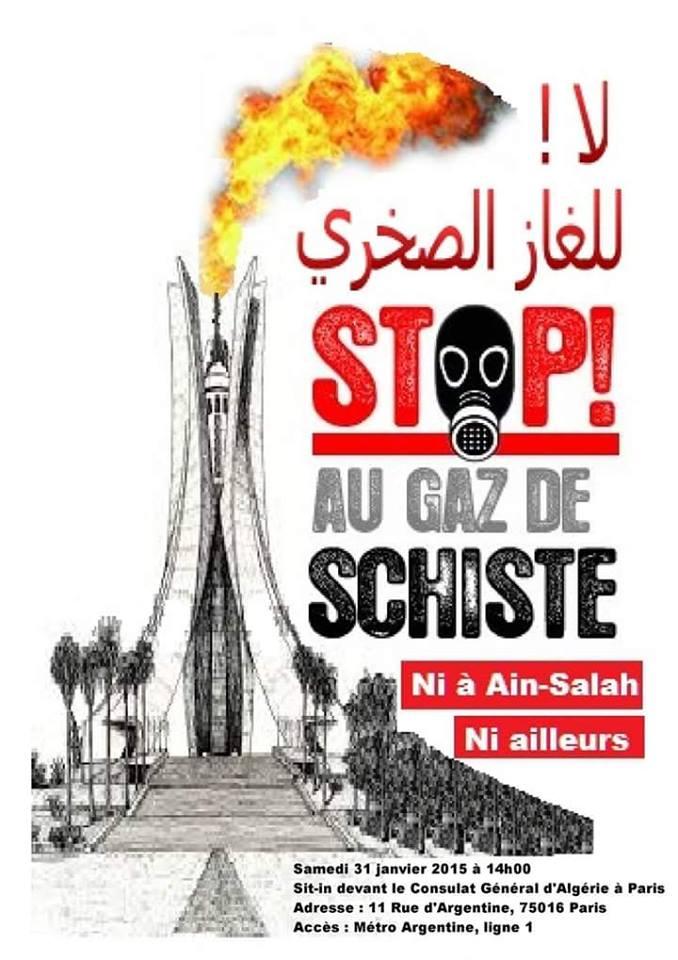 Stop au gaz de schiste en Algérie