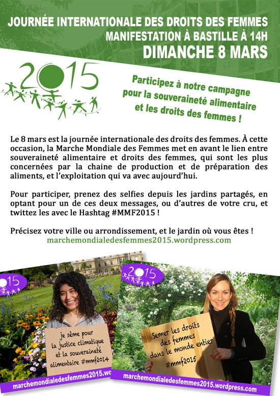 Affichette Marche mondiale des femmes